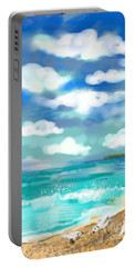 Beach Birds Portable Battery Charger by Elaine Lanoue