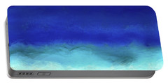Beach Scene 8. Aqua Beach Blues Portable Battery Charger by Mark Lawrence