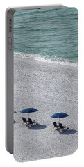 Portable Battery Charger featuring the photograph Beach Therapy 1 by Marie Hicks