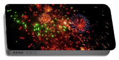 Beautiful Fireworks Against The Black Sky Of The New Year Portable Battery Charger
