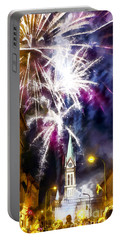 Beautiful Fireworks In Budapest Hungary Portable Battery Charger