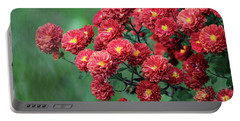 Beautiful Red Mums Portable Battery Charger