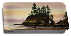 Portable Battery Charger featuring the painting Beautiful Shore by James Williamson