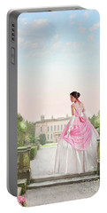 Beautiful Victorian Woman In The Garden Portable Battery Charger