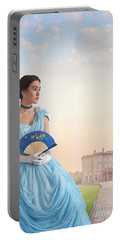 Beautiful Young Victorian Woman Portable Battery Charger by Lee Avison