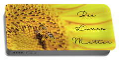 Bee Lives Matter Portable Battery Charger