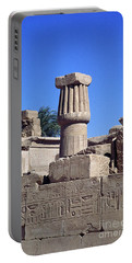 Belief In The Hereafter - Luxor Karnak Temple Portable Battery Charger