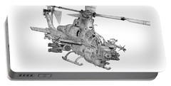 Portable Battery Charger featuring the digital art Bell Ah-1z Viper by Arthur Eggers