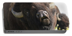 Bellowing Bull Bison Portable Battery Charger