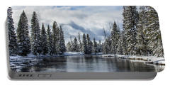 Big Springs In Winter Idaho Journey Landscape Photography By Kaylyn Franks Portable Battery Charger