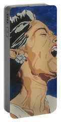 Portable Battery Charger featuring the painting Billie Holiday by Rachel Natalie Rawlins