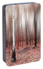 Portable Battery Charger featuring the photograph Birchforest In Fall by Hannes Cmarits