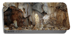 Portable Battery Charger featuring the photograph Bizarre Mineral Formations In Stalactite Cavern by Michal Boubin