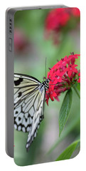 Portable Battery Charger featuring the photograph Black And White Butterfly  by Raphael Lopez