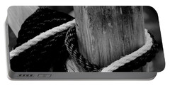 Portable Battery Charger featuring the photograph Black And White by Corinne Rhode
