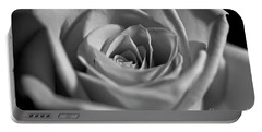 Portable Battery Charger featuring the photograph Black And White Rose by Micah May