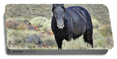Black Mustang Portable Battery Charger by Marilyn Diaz