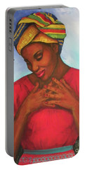 Portable Battery Charger featuring the painting Blessed by Alga Washington