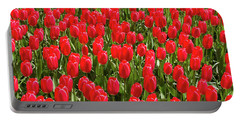 Blooming Red Tulips Portable Battery Charger