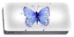 Blue Abstract Butterfly Portable Battery Charger