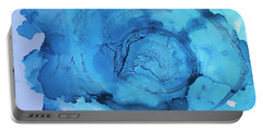 Blue Abstract Portable Battery Charger