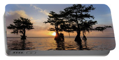 Blue Cypress Lake Morning Portable Battery Charger