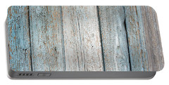 Blue Fading Paint On Wood Portable Battery Charger by John Williams