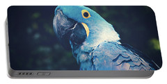 Blue Hyacinth Macaw Portable Battery Charger by Sharon Mau