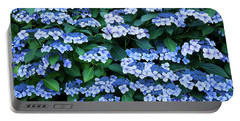 Portable Battery Charger featuring the photograph Miksang 12 Blue Hydrangea by Theresa Tahara