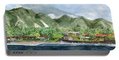 Portable Battery Charger featuring the painting Blue Lagoon Bali Indonesia by Melly Terpening
