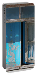 Blue Window Portable Battery Charger by Edgar Laureano