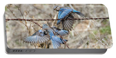 Bluebird Battle Portable Battery Charger by Mike Dawson