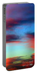 Blushed Sky Portable Battery Charger by Linda Hollis
