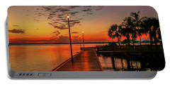 Boardwalk Sunrise Portable Battery Charger by Tom Claud