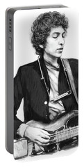 Bob Dylan Drawing Art Poster Portable Battery Charger