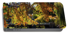 Portable Battery Charger featuring the photograph Boston Public Garden - Lagoon Bridge by Joann Vitali