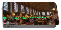 Portable Battery Charger featuring the photograph Boston Public Library by Joann Vitali