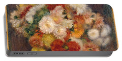 Portable Battery Charger featuring the painting Bouquet Of Chrysanthemums by Auguste Renoir