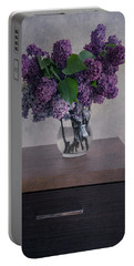 Portable Battery Charger featuring the photograph Bouquet Of Fresh Lilacs by Jaroslaw Blaminsky