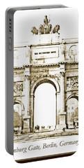 Brandenburg Gate, Berlin Germany, 1903, Vintage Image Portable Battery Charger