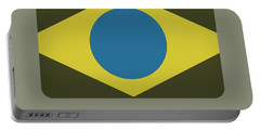 Brazil Flag Portable Battery Charger