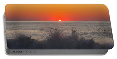 Breaking Wave At Sunrise Portable Battery Charger