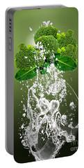 Broccoli Splash Portable Battery Charger