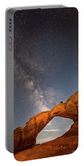 Broken Arch And Milky Way Portable Battery Charger