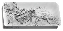 Brown Trout Pencil Study Portable Battery Charger