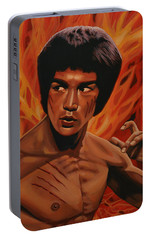 Bruce Lee Enter The Dragon Portable Battery Charger by Paul Meijering