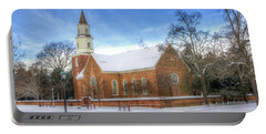 Bruton Parish In Winter II Portable Battery Charger