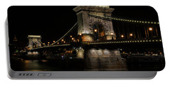 Portable Battery Charger featuring the photograph Budapest At Night. by Jaroslaw Blaminsky