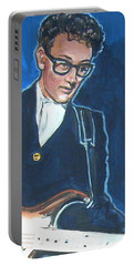 Buddy Holly Portable Battery Charger by Bryan Bustard