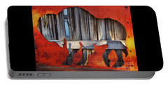 Portable Battery Charger featuring the photograph Wooden Buffalo 1 by Larry Campbell